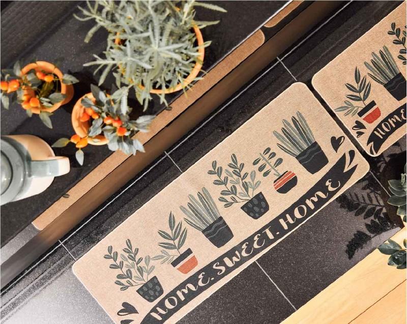 Tapete Para Casa / Cozinha CasaComCasa Horta Perfumada Emborrachado 40cm x 60cm (1 peça)