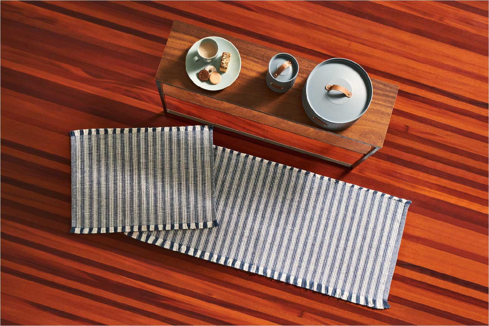 Tapete Para Casa / Cozinha CasaComCasa Listrado Minimalista 100% Algodão 40cm x 60cm (1 peça)