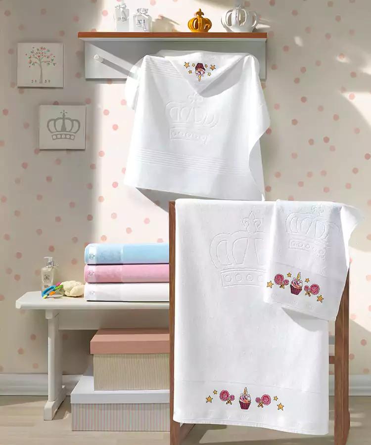 Toalha de Banho Infantil com Capuz para Bordar Dohler Baby Classic Aveludada FJ-5171 - Gramatura: 400 g/m²