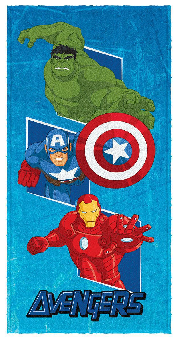 Toalha de Banho Infantil Felpuda Estampada Avengers - Lepper