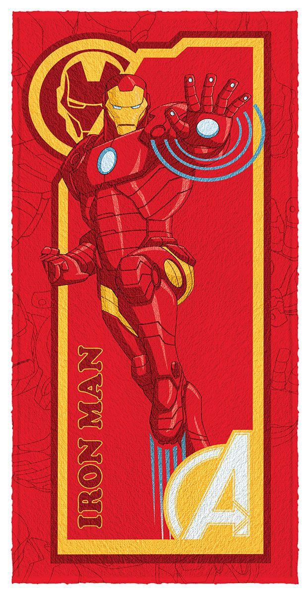 Toalha de Banho Infantil Felpuda Estampada Avengers Homem de Ferro - Lepper