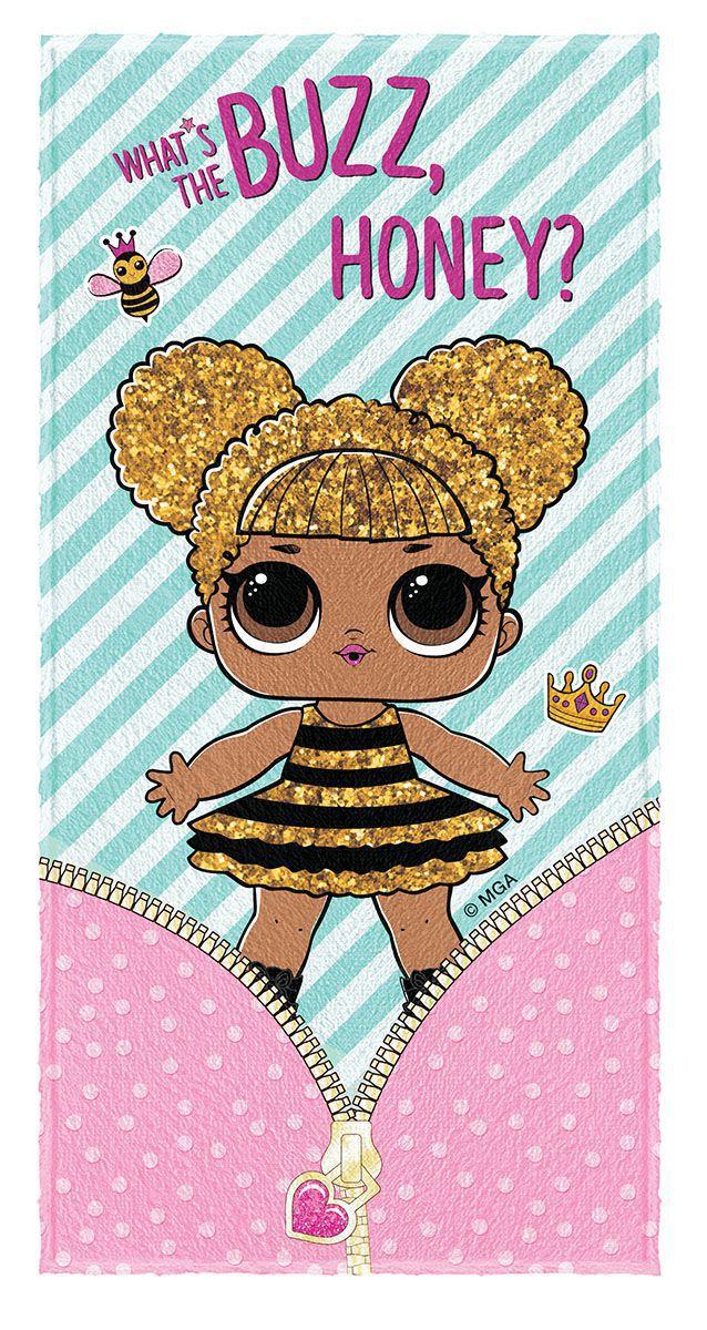 Toalha de Banho Infantil Felpuda Estampada LOL Queen Bee - Lepper