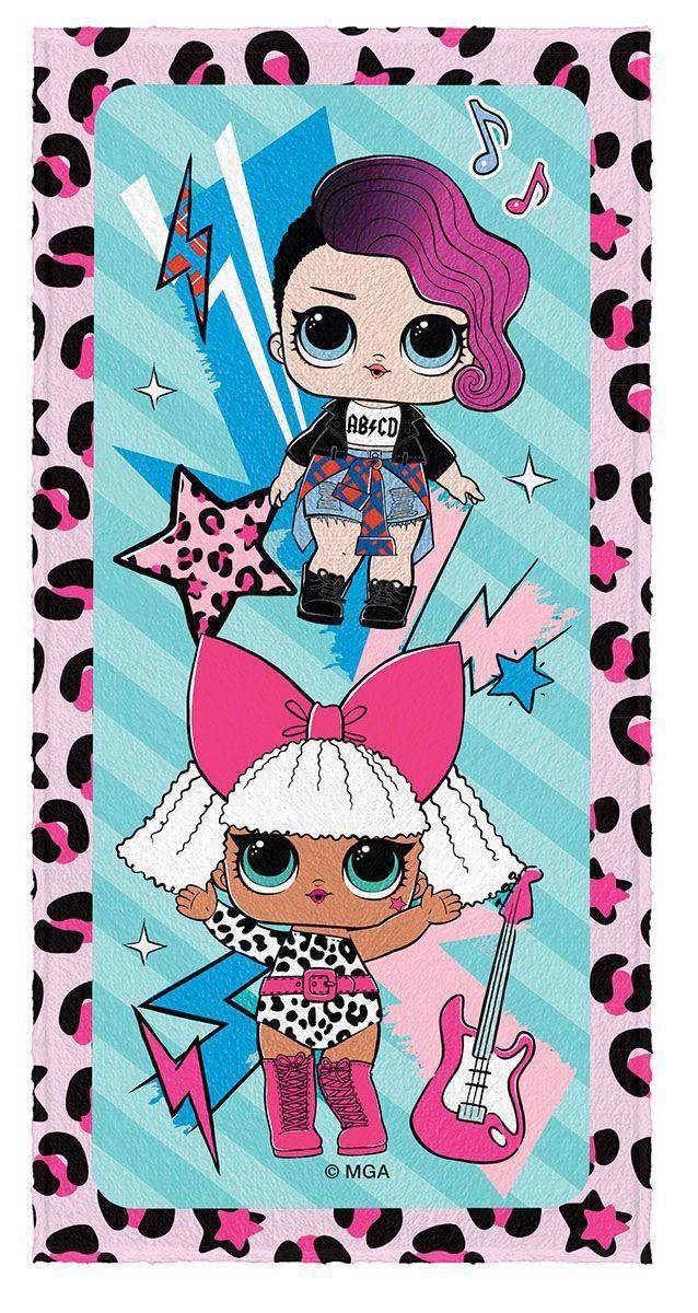 Toalha de Banho Infantil Felpuda Estampada LOL Rocker e LOL Diva - Lepper