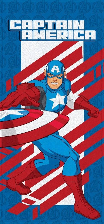 Toalha de Banho Infantil Lepper Felpuda Avengers Capitão América