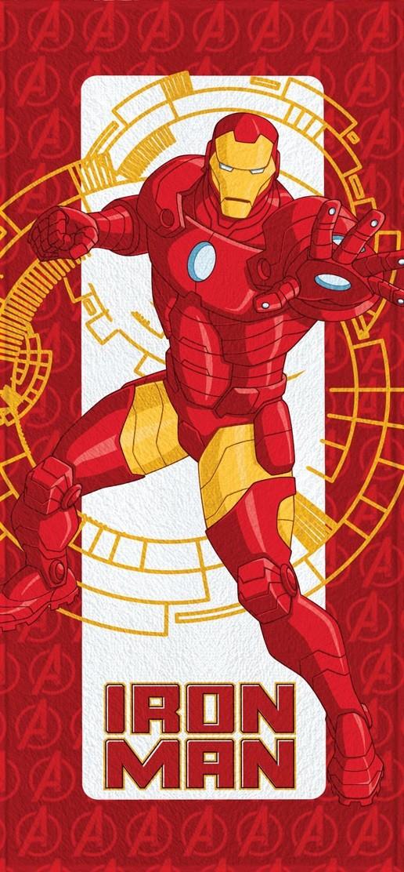 Toalha de Banho Infantil Lepper Felpuda Avengers Homem de Ferro