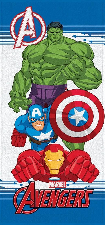 Toalha de Banho Infantil Lepper Felpuda Avengers Hulk, Capitão America e Homem de Ferro I