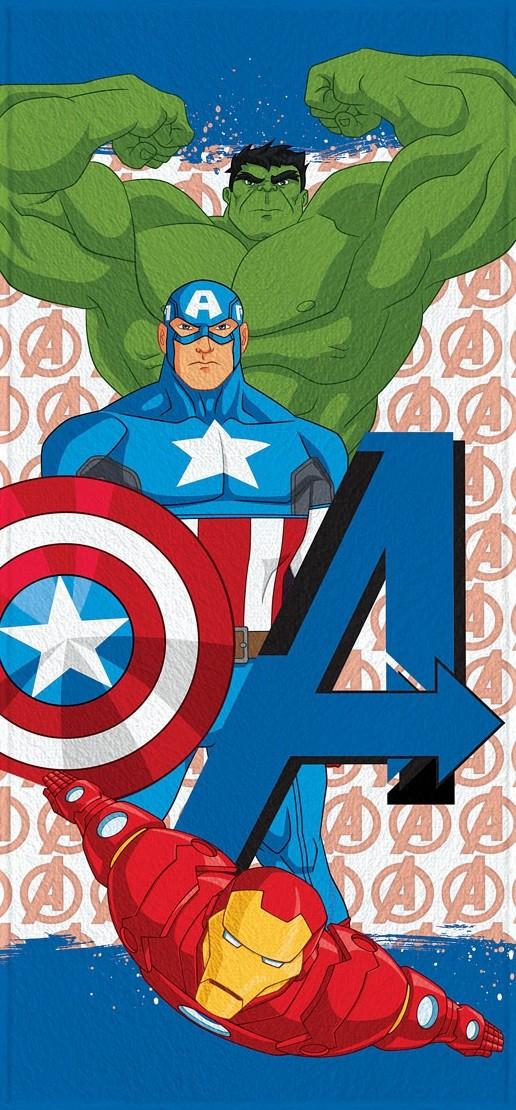 Toalha de Banho Infantil Lepper Felpuda Avengers Hulk, Capitão America e Homem de Ferro II
