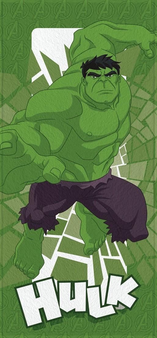 Toalha de Banho Infantil Lepper Felpuda Avengers Hulk