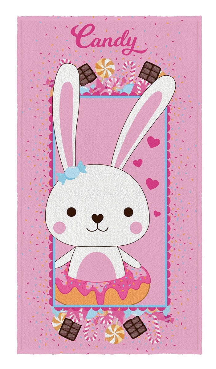 Toalha de Banho Infantil Felpuda Candy - Lepper