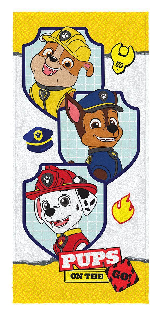 Toalha de Banho Infantil Felpuda Estampada Patrulha Canina Rubble, Chase e Marshall - Lepper