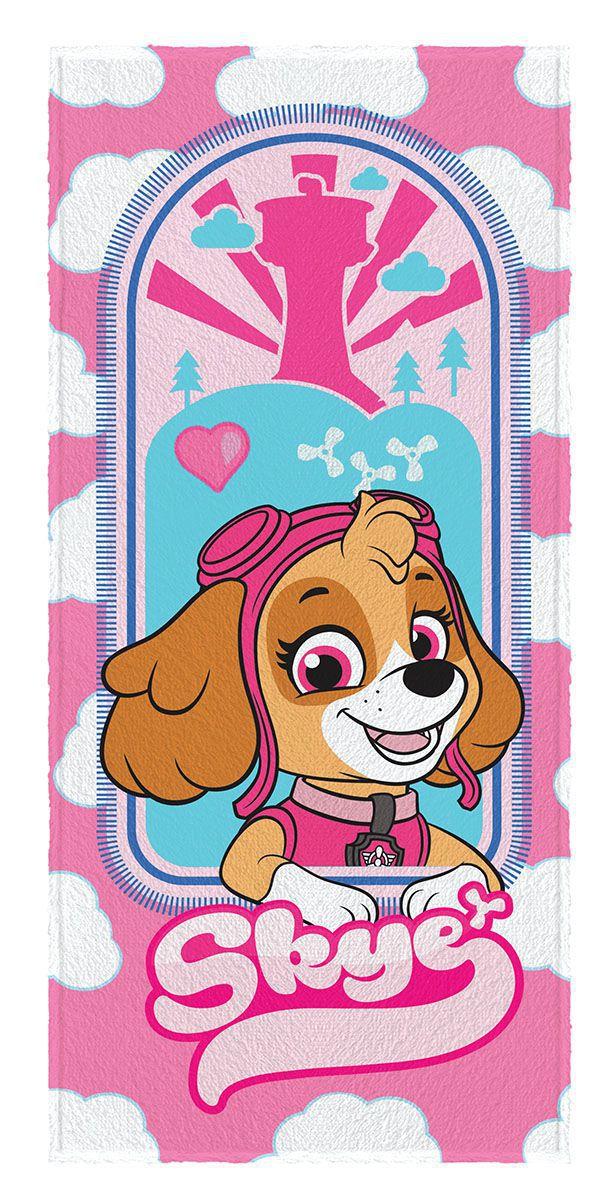 Toalha de Banho Infantil Felpuda Estampada Patrulha Canina Skye - Lepper