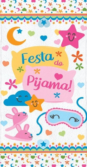Toalha de Banho Infantil Lepper Felpuda Festa do Pijama