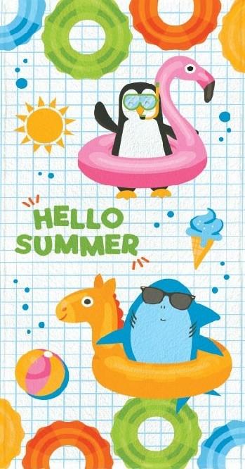 Toalha de Banho Infantil Lepper Felpuda Hello Summer