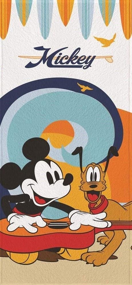 Toalha de Banho Infantil Lepper Felpuda Mickey e Pluto