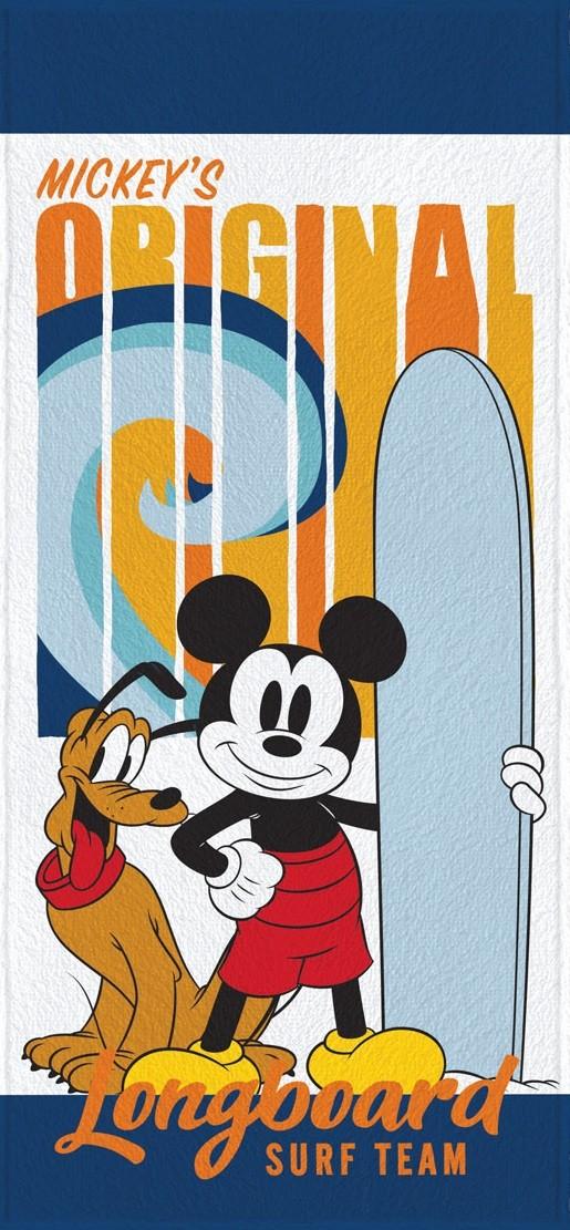 Toalha de Banho Infantil Lepper Felpuda Mickey Longboard