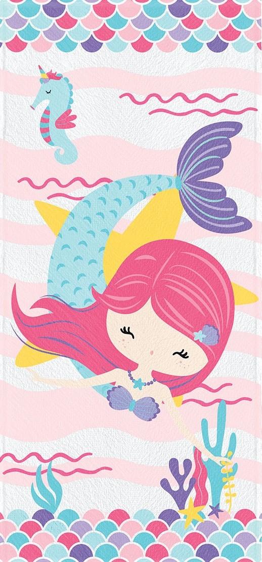 Toalha de Banho Infantil Lepper Felpuda Oceano Colorido