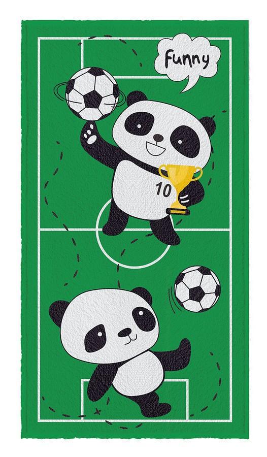 Toalha de Banho Infantil Lepper Felpuda Panda Futebol