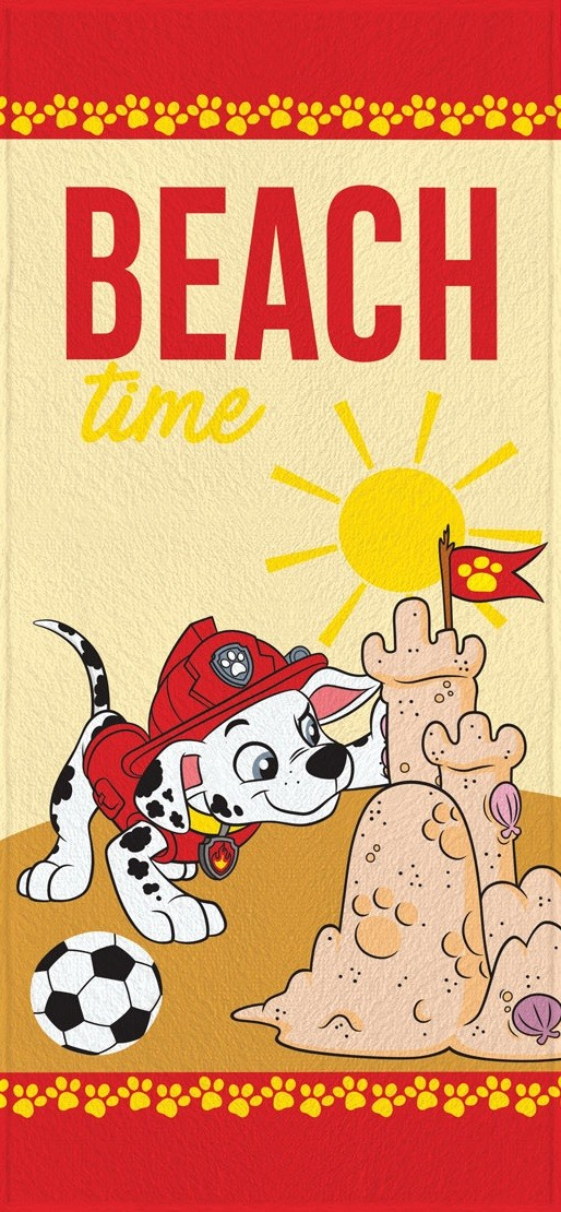Toalha de Banho Infantil Lepper Felpuda Patrulha Canina Beach