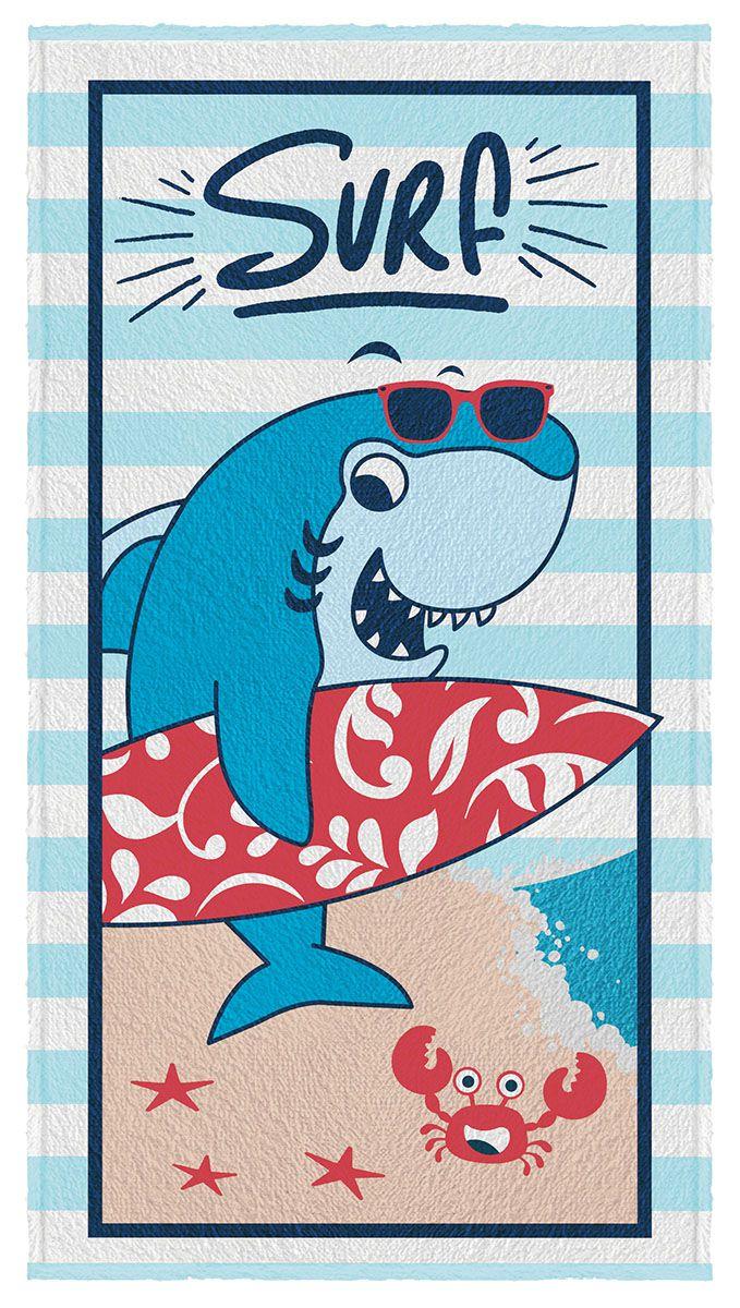 Toalha de Banho Infantil Felpuda Tubarão - Lepper
