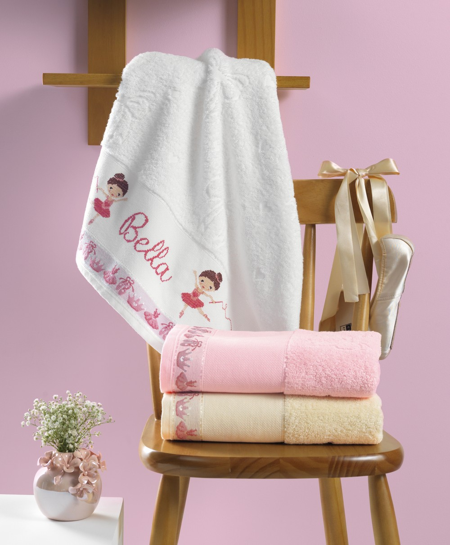 Toalha de Banho Infantil para Bordar Karsten Balé - Gramatura: 400g/m²