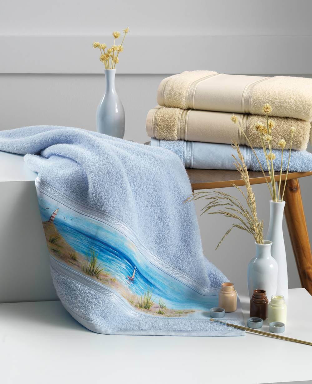 Toalha de Banho para Pintar Karsten Bruna II - Gramatura: 370g/m²