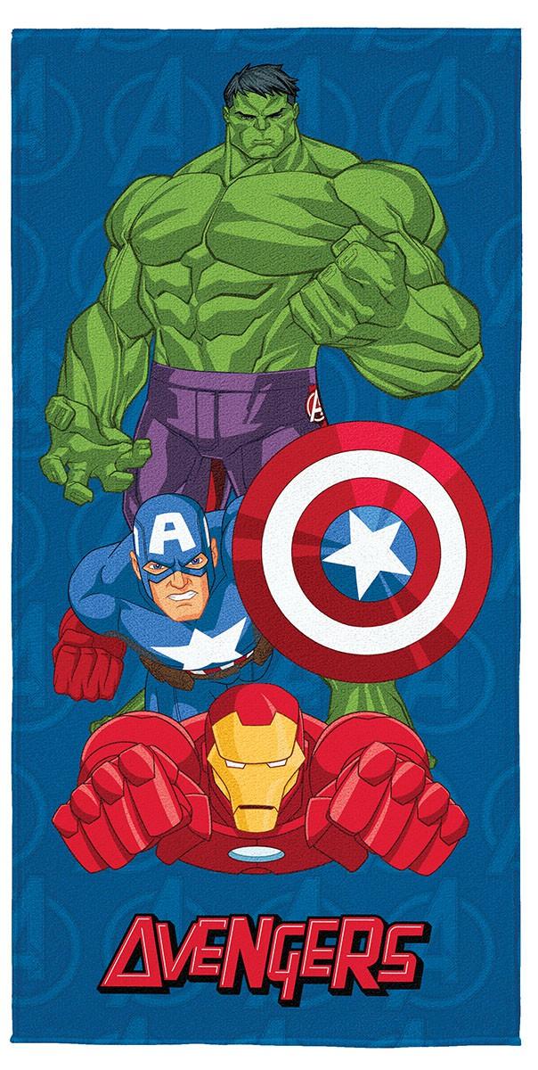 Toalha de Banho / Praia Infantil Lepper Aveludada Estampada Avengers (Vingadores)