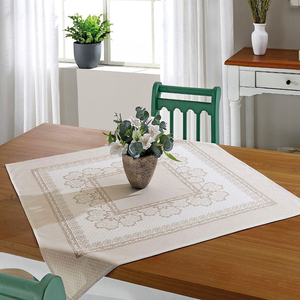 Toalha de Chá / Centro de Mesa Dohler Athenas Renda 78cm x 78cm