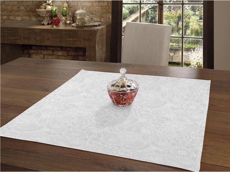 Toalha de Chá / Centro de Mesa Dohler Clean Athenas Edite 78cm x 78cm