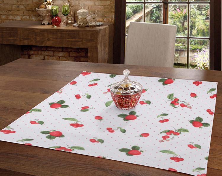 Toalha de Chá / Centro de Mesa Dohler Clean Athenas Iolanda 78cm x 78cm