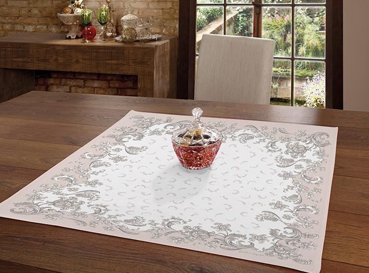 Toalha de Chá / Centro de Mesa Dohler Clean Renova Estampado Digital Marcelle 78cm x 78cm