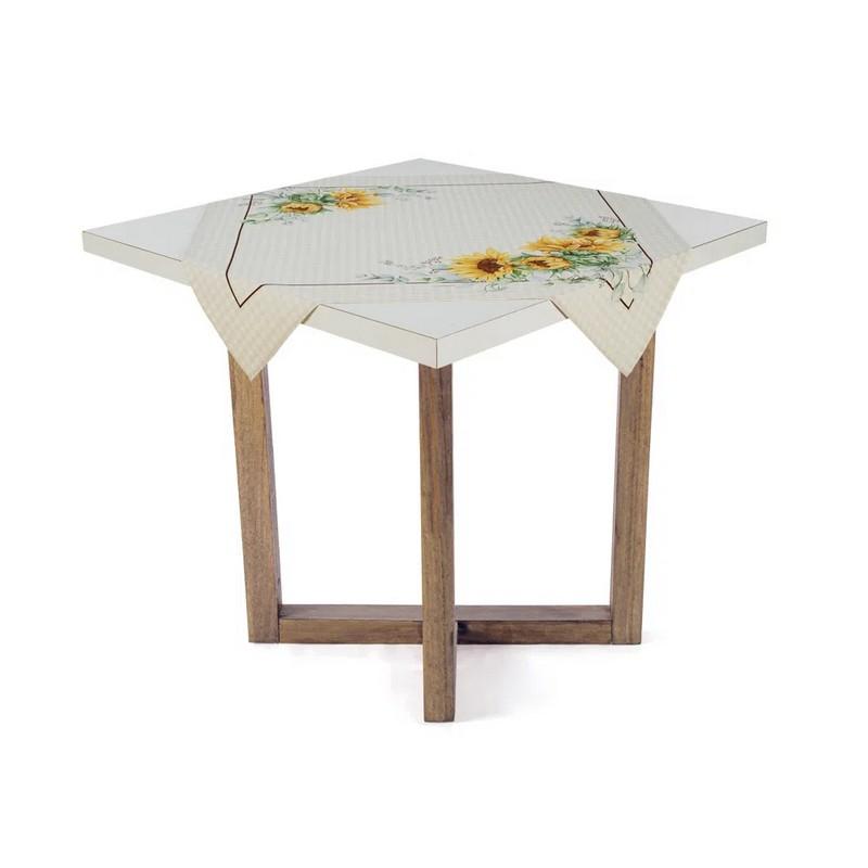 Toalha de Chá / Centro de Mesa Karsten Flor do Sol 78cm x 78cm