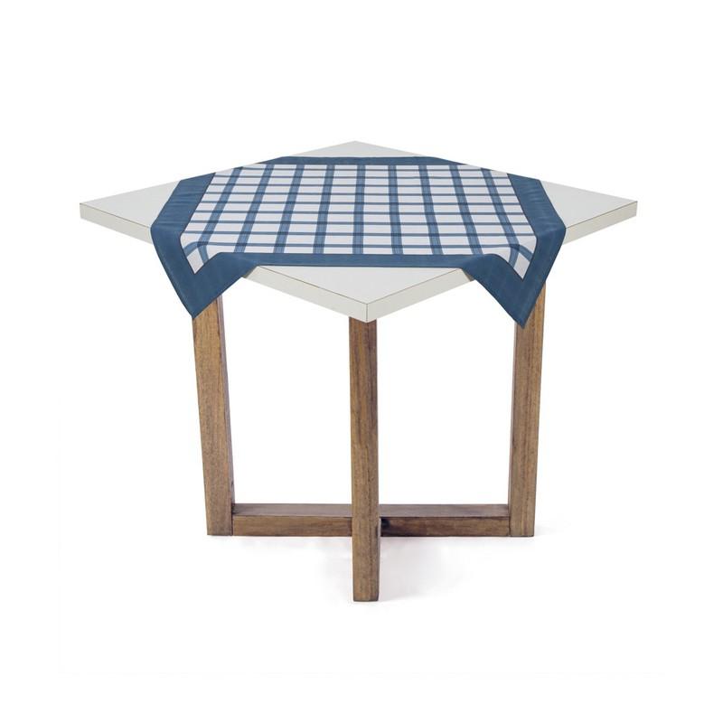 Toalha de Chá / Centro de Mesa Karsten Quadrata Azul 78cm x 78cm