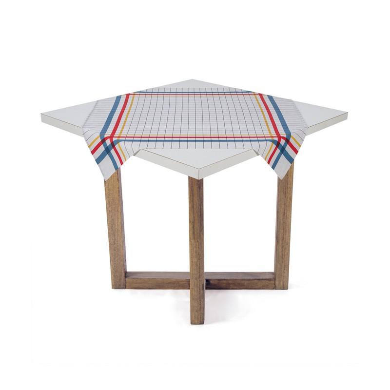 Toalha de Chá / Centro de Mesa Karsten Quadrata Colorido 78cm x 78cm