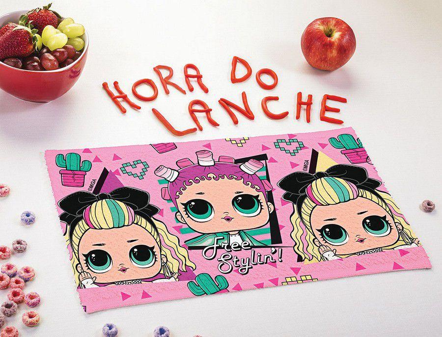 Toalha de Lancheira Infantil Estampada LOL - Lepper