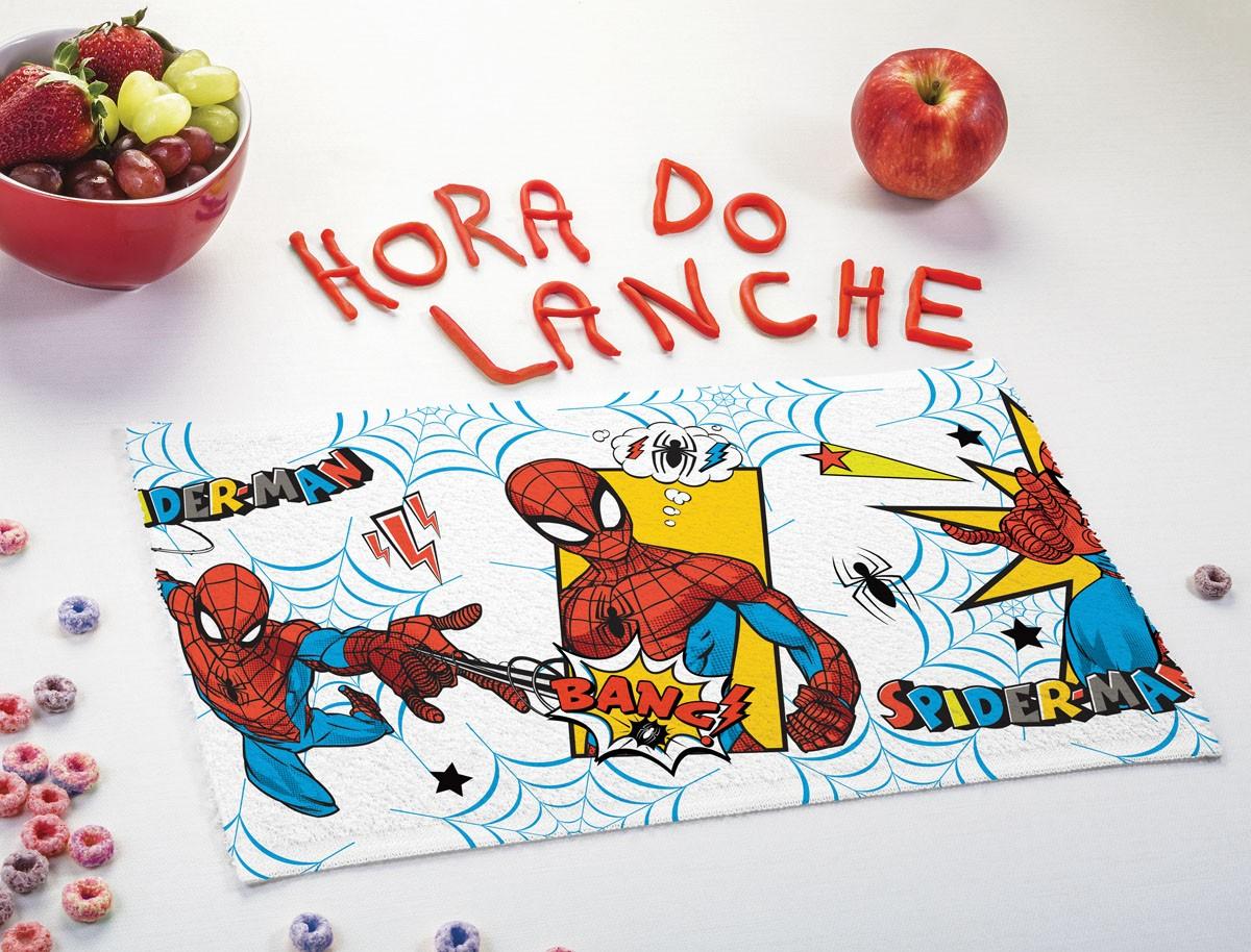 Toalha de Lancheira Infantil Lepper Estampada Homem Aranha