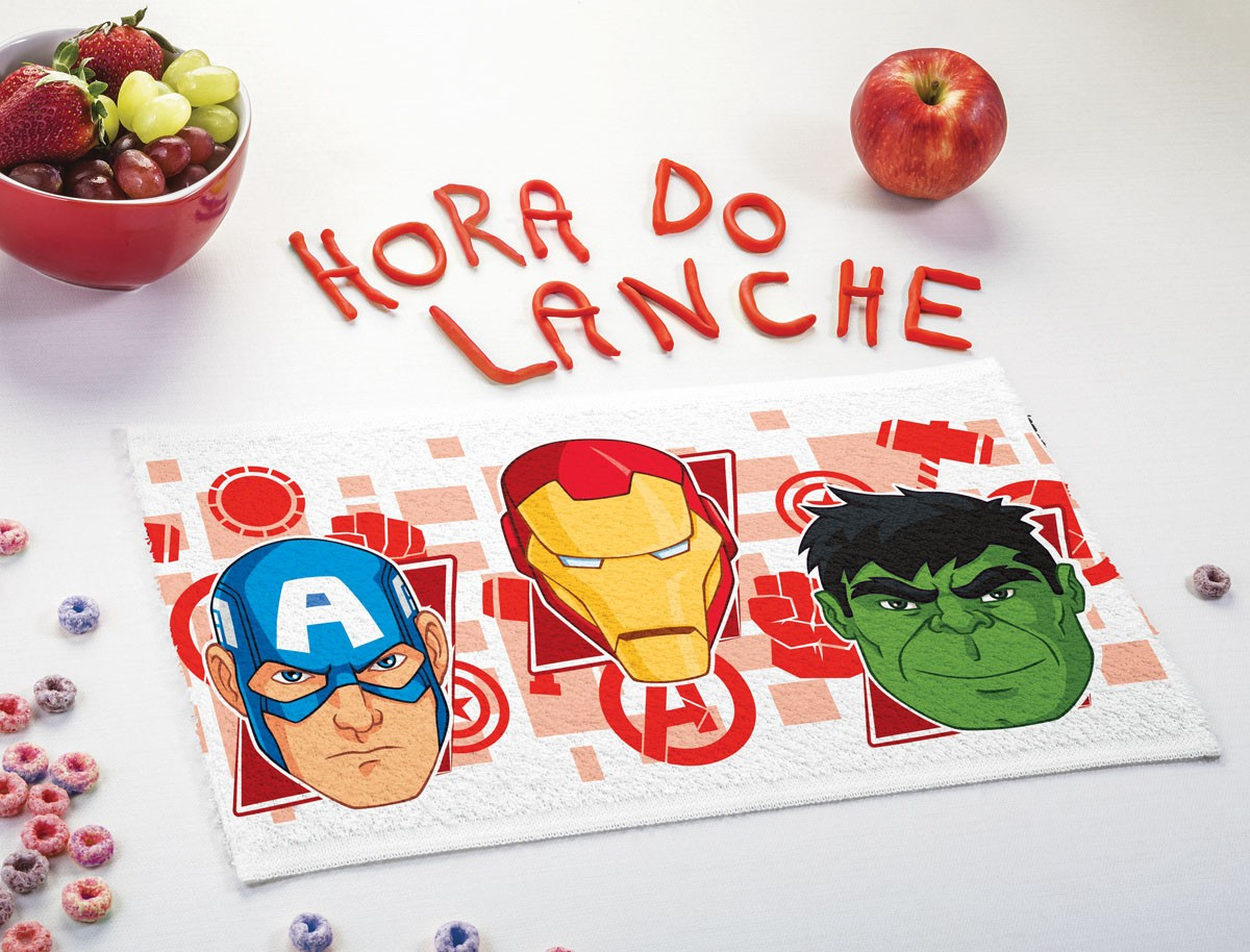 Toalha de Lancheira Infantil Lepper Estampada Vingadores (Avengers)