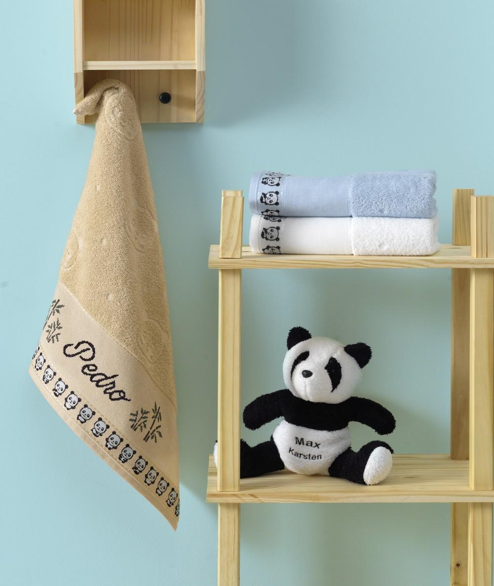 Toalha de Lavabo / Visita Infantil para Bordar Karsten Max - Gramatura: 400g/m²