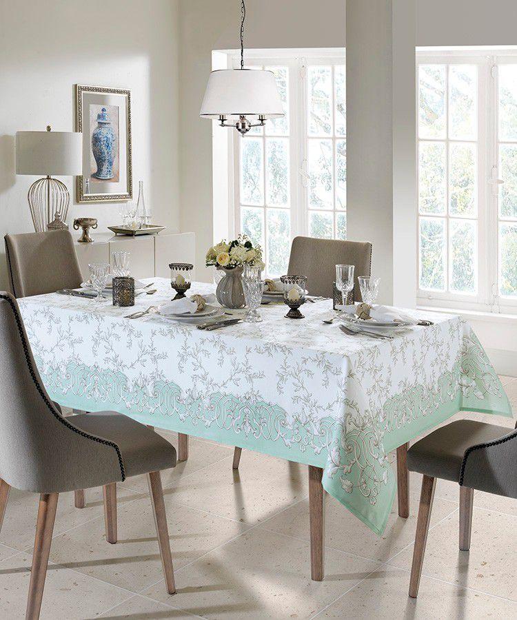 Toalha de Mesa Quadrado Dohler Clean Renova Estampado Digital  Martina D 4 Lugares 1,40m x 1,40m