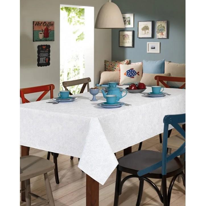 Toalha de Mesa Retangular Dohler Clean Athenas Edite 8 Lugares 1,60m x 2,50m