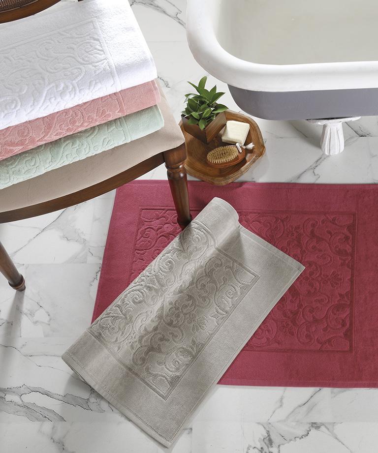 Toalha de Piso Dohler Jacquard Confort FJ-6408 100% Algodão - Gramatura: 680g/m²