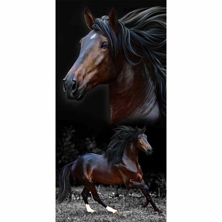 Toalha de Praia Resort Veludo Brow Horses - Buettner