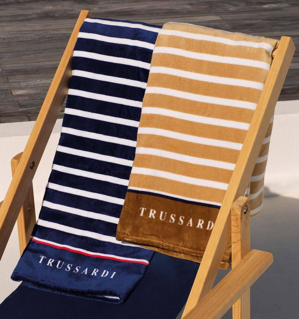 Toalha de Praia Trussardi Capri Aveludada 100% Algodão - Gramatura: 430 g/m²