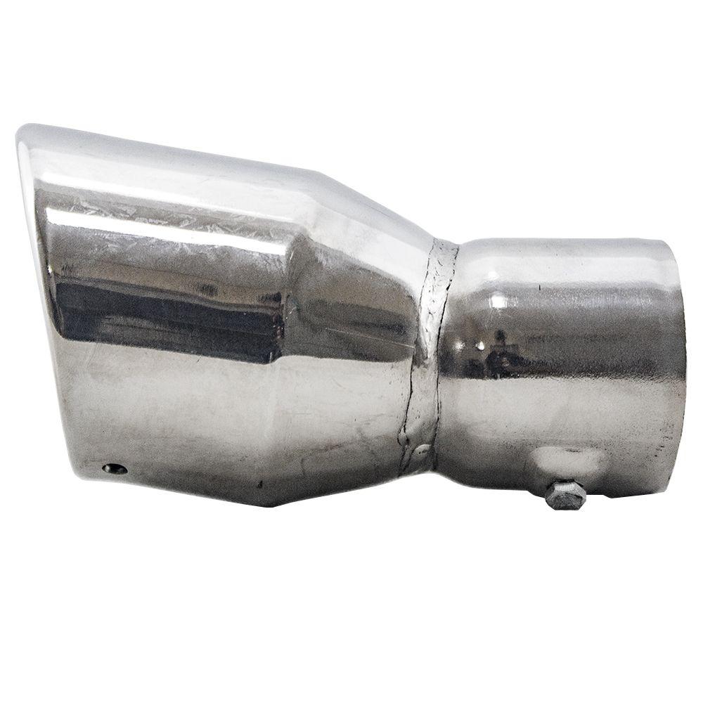 """Ponteira Cromada Peugeot 206, 207, 208 Entrada 2,5"""" - 14,5 cm Comprim."""