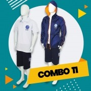 COMBO 11 - 30% OFF   Alphaville   Casaco Fleece + Bermuda Moletinho + Polo + Gola V
