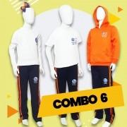 COMBO 6 - 15% OFF | Alphaville | Camiseta Básica + Manga Longa +  Moletom Canguru + Calça Moletom