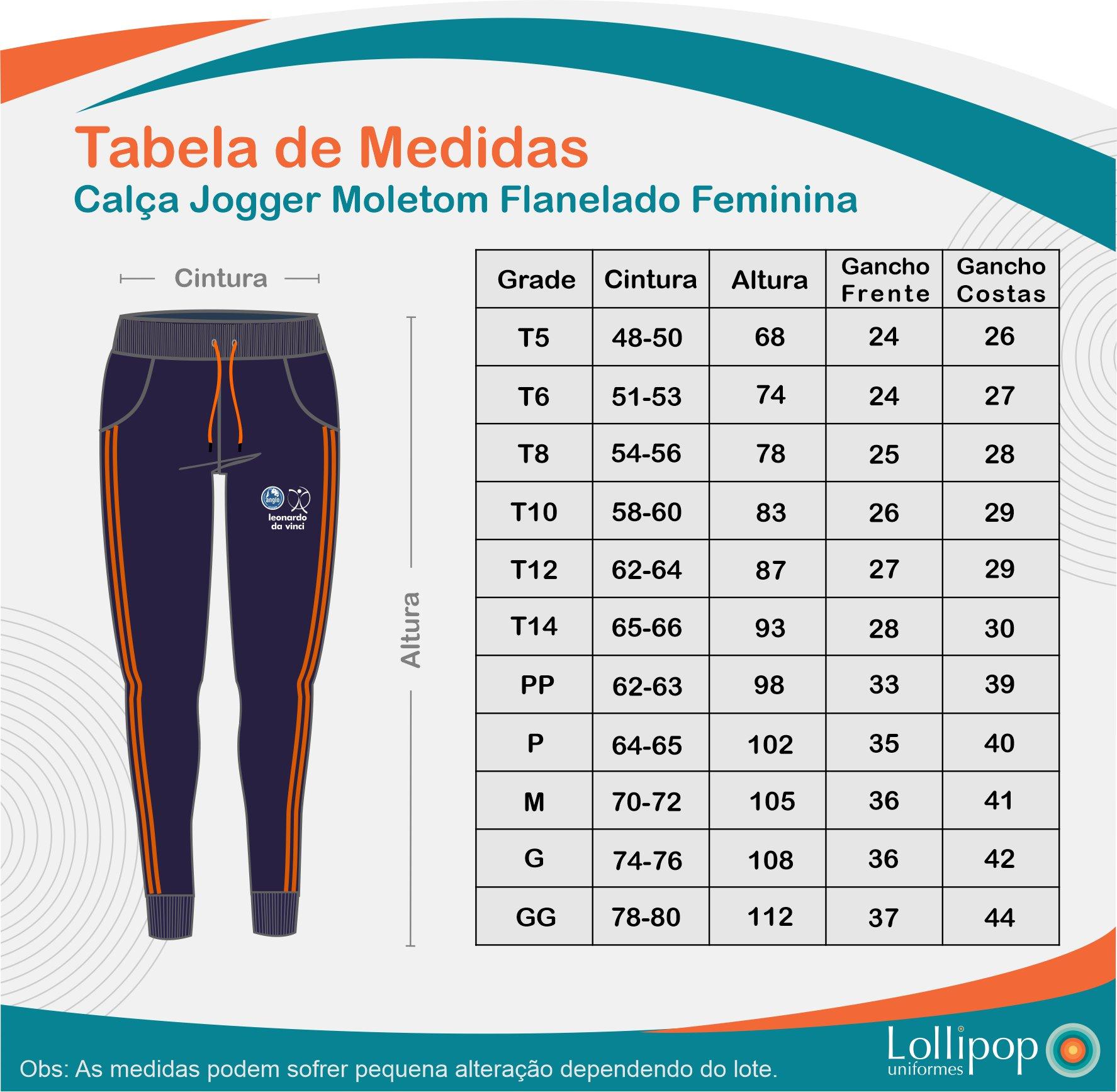 CALÇA JOGGER MOLETOM FLANELADO FEMININA ANGLO