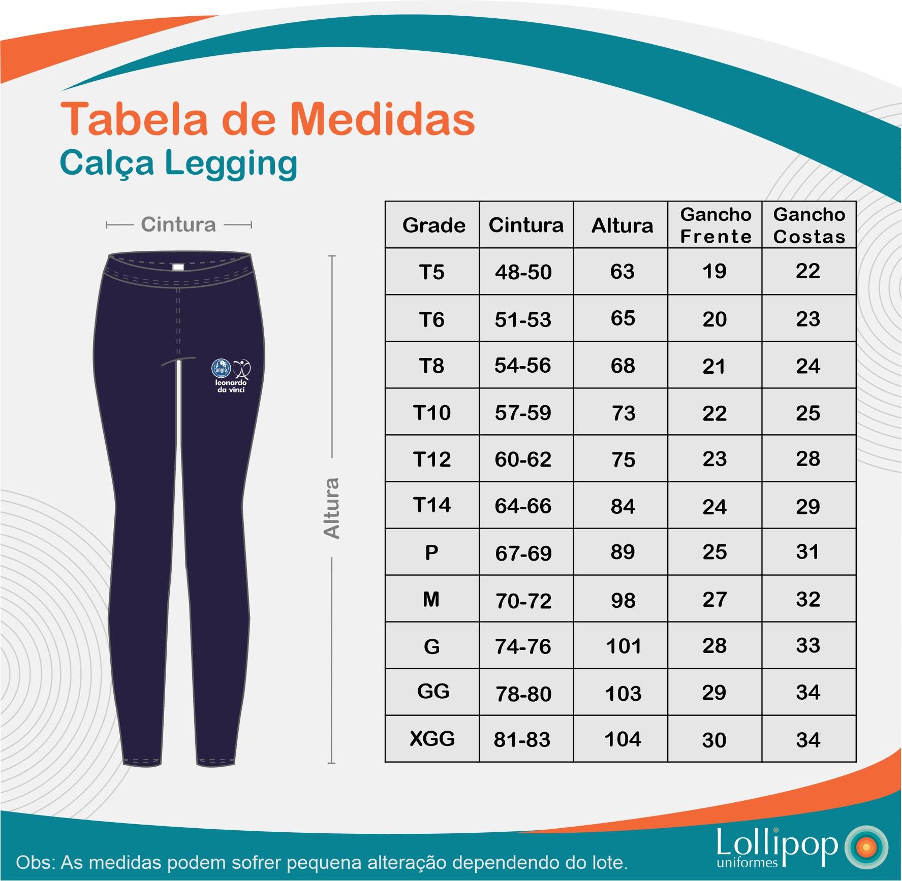 CALÇA LEGGING MICROFIBRA LEVE ANGLO