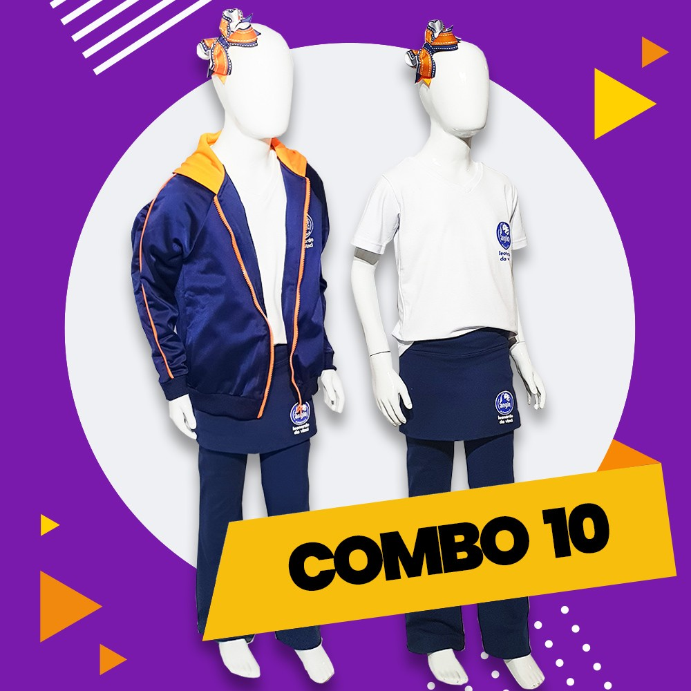 COMBO 10 - 30% OFF   Alphaville   Casaco Fleece + Calça Flare  + Gola V + Polo