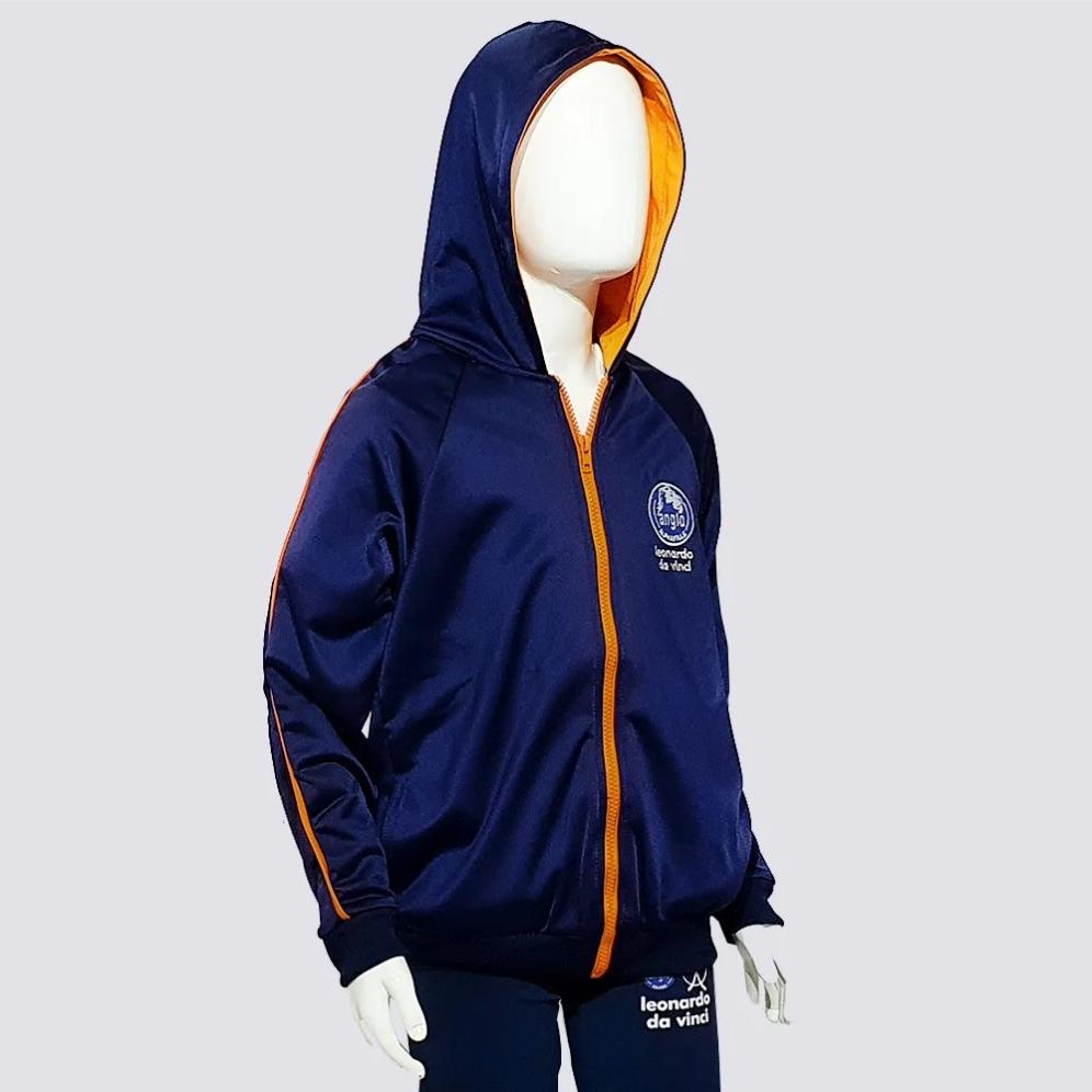 OUTLET 30% OFF // CASACO ESPORTIVO FLEECE ANGLO (Logo Alpha)