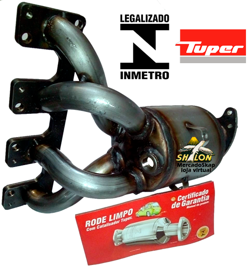 CATALISADOR PALIO WEEKEND 1.8 8V FLEX 2006 A 2009 MODELO ORIGINAL SELO INMETRO